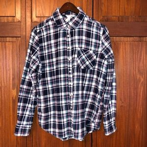 3/$12 item!  Long Sleeved Plaid Flannel Shirt